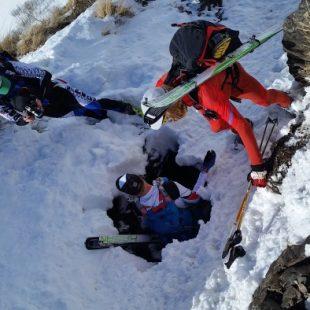 Imagen de la travesía invernal a la Hardrock 100