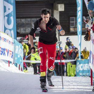 Kilian Jornet en la Cronoescalada del Campeonato de Europa de Esquí de Montaña