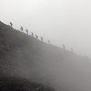 Participantes en la Carrera del Alto Sil 2016.