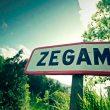 Cartel de entrada a Zegama