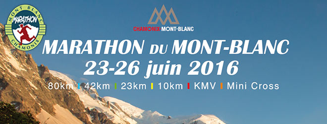 Cartel Marathon du mont Blanc 2016