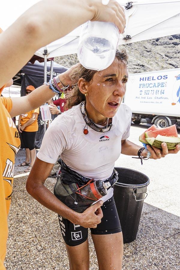 La corredora francesa Myriam Guillot tercera en la Transvulcania 2015