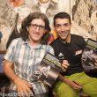 David Roncero y el periodista Luis Blanco en la presentación del libro Herramientas emocionales para correr ultra trails. Ultracoaching en la Librería Desnivel 2016