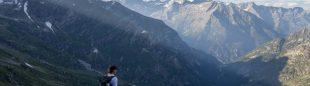 Lizzy Hawker en el recorrido del Ultra Tour Monte Rosa