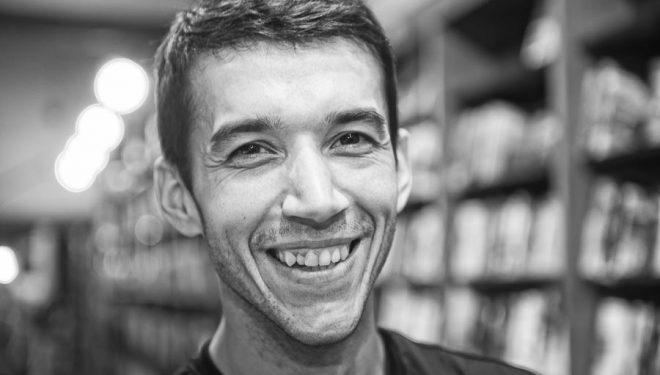 David Roncero en la presentación del libro Herramientas emocionales para correr ultra trails. Ultracoaching en la Librería Desnivel. 2016