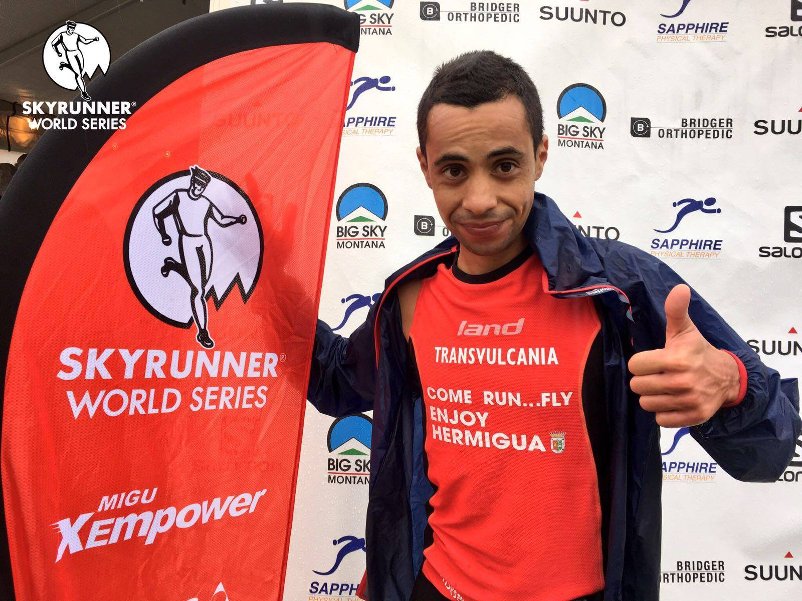 Cristofer Clemente tras ganar The Rut 50K de la Copa del Mundo de UltraSky 2016