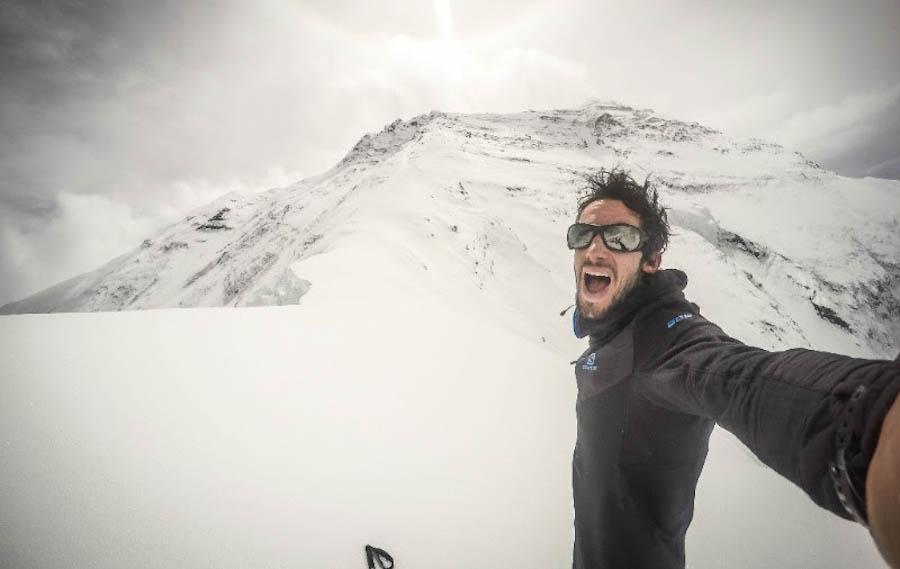 Kilian Jornet en su expedición al Himalaya. 2016