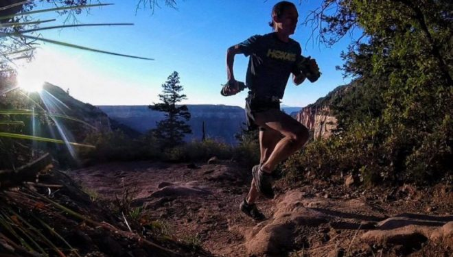 Jim Walsmley en el Grand Canyon R2R2R