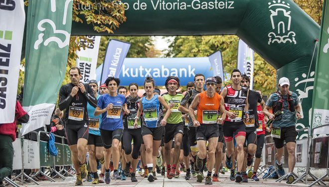 Salida de la Vitoria-Gasteiz Trail 2016