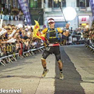 Así celebraba Pau Capell su victoria en la TDS 2016 (120k).