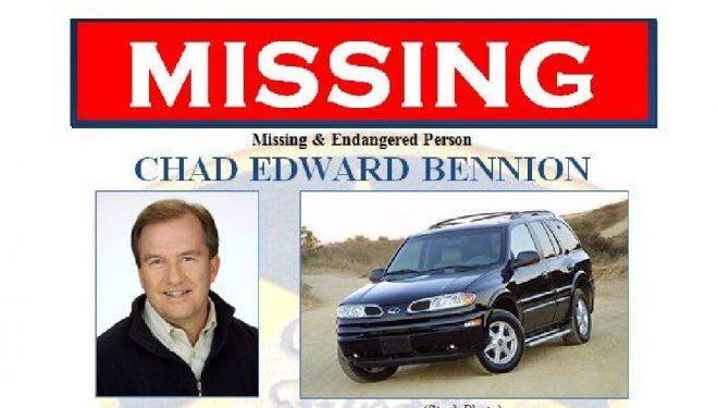 El cartel de búsqueda de Chad Bennion