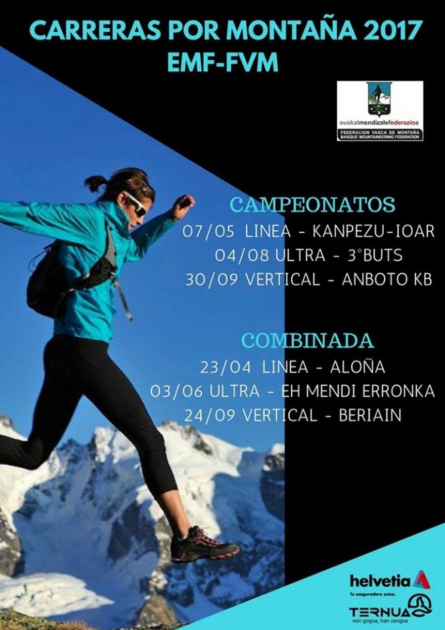 Cartel promocional del Basque Ultra Trail Series