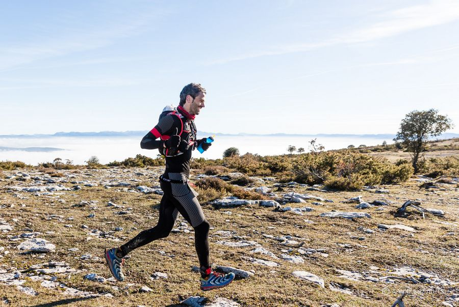 Dani Aguirre en la Bilbao-Gasteiz(Basque Ultra Trail Series 2017)