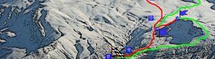 Recorrido previsto de la tercera prueba Copa Mundo de Esquí de Montaña que tendrá lugar en Ergan (Turquía)