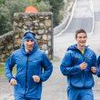 El corredor Luis Alberto Hernando y escalador Beto Rocasolano y en la presentación de la colección adidas TERREX 2017