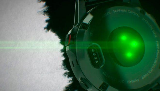 Sensor óptico en un reloj GPS