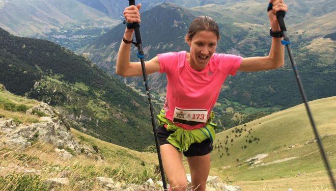 Christelle Dewalle en el Campeonato del Mundo de Kilómetro Vertical 2016