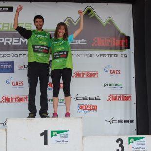 Joseba Díaz y Virginia Pérez ganan en Otañes la primera prueba Copa España Carreras Verticales 2017