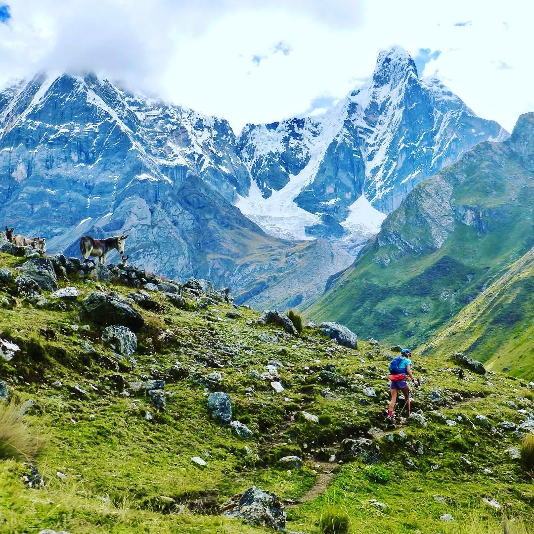 Darcy Piceu en el circuito de la Cordillera Huayhuash