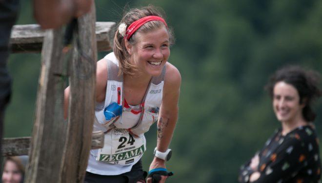 Emelie Forsberg en el maratón de Zegama-Aizkorri 2017