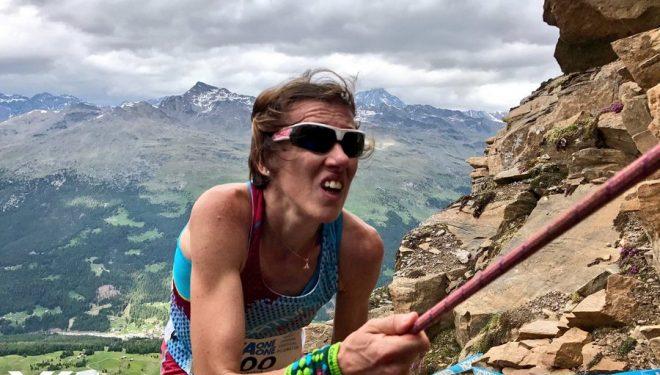 Valentina Belotti en el tramo final del Kilómetro Vertical de Santa Caterina 2017