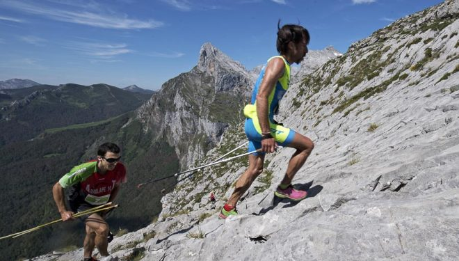 Iñigo Lariz quedó tercero en el Kilómetro Vertical de Fuente Dé 2017