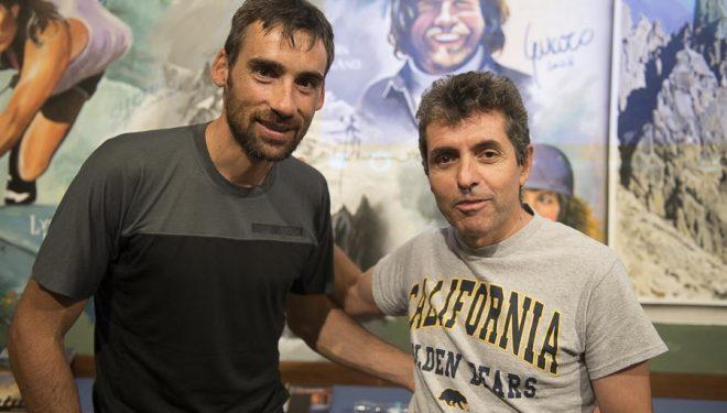 Luis Alberto Hernando con Felipe Rodríguez
