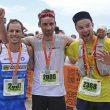 Podium maratón Transvulcania 2017:. De izda a derecha: Daniel García (2º)