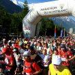 Salida de Chamonix del Maratón del Mont Blanc
