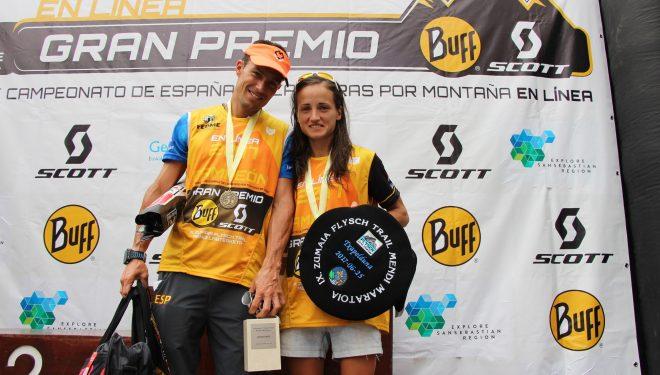 Dani García y Eli Gordón se proclamaron campeones de Carrearas por montaña en línea en la ZUmaia Flysch Trail 2017