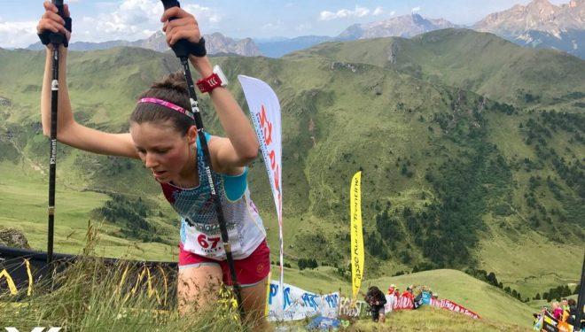 Axelle Mollaret en la Dolomites Vertical Kilometer 2017