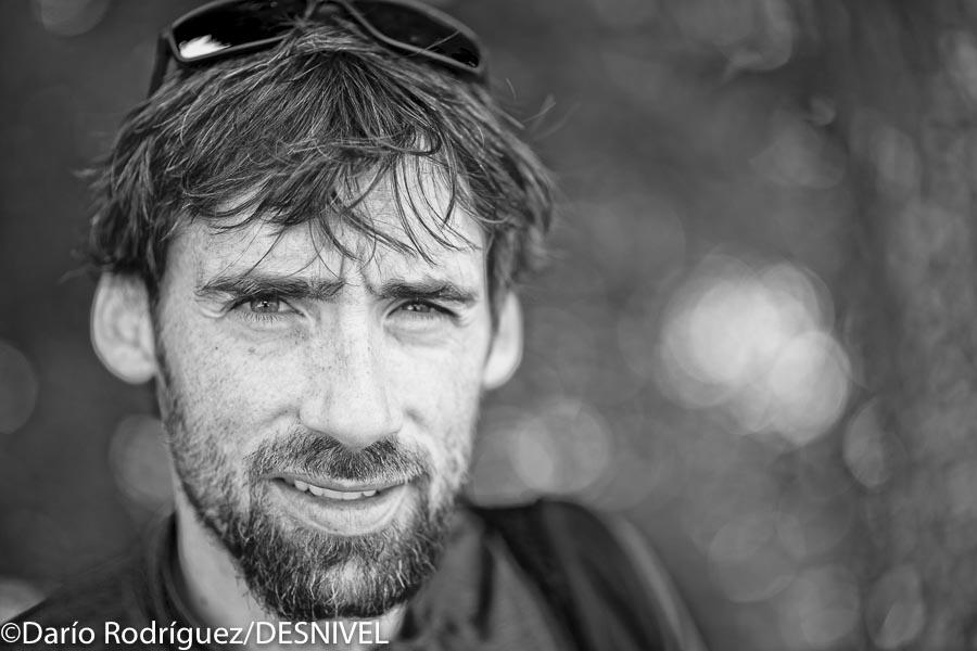 Luis Alberto Hernando antes de la salida de la Ultra Trail du Mont Blanc 2016