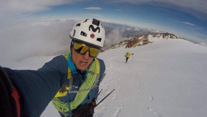 Karl Egloff en una ascensión al Cayambe