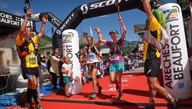 Anna Comet y Laia Andreu cruzan la meta de la Pierra Menta Eté 2017 en segundo lugar