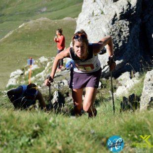 Laura Orgué en la canal de la Vertical Cabanera 2017 que ganó