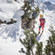 Esquiador de montaña español en la prueba individual de los Mundiales de Esquí de Montaña 2017