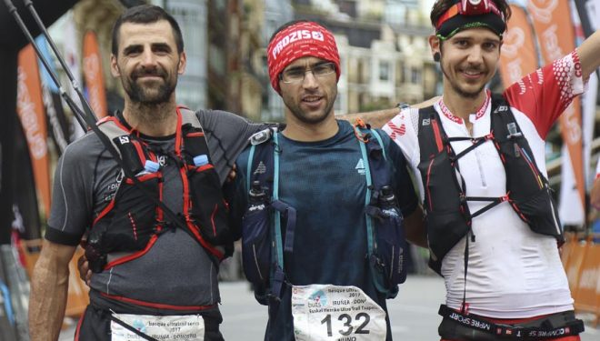 Podio Iruñea-Donostia de la Basque Ultra Trail Series 2017. Nuno Silva