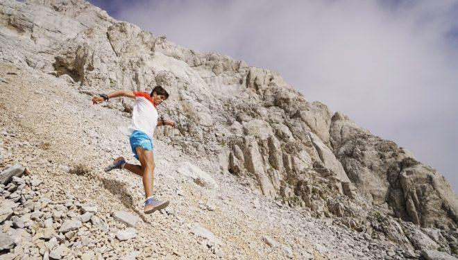Raul Criado en su descenso de 1.000 m desde Collarada