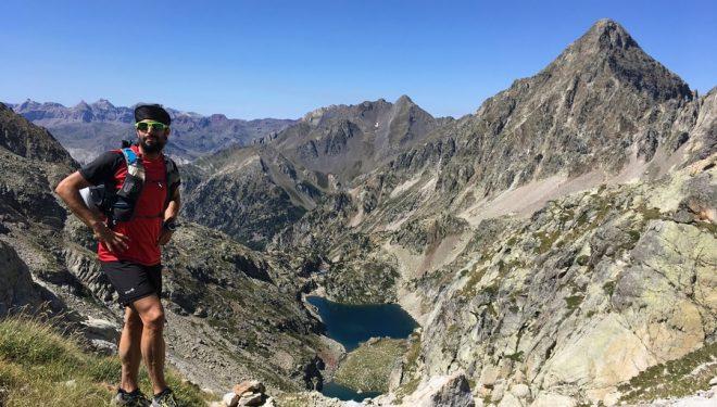 Iokin Garai corriendo por la zona del Balaitus en el verano de 2017