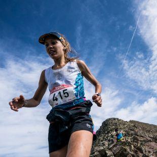 Sheila Avilés en la Skyrace Comapedrosa 2017, que ganó
