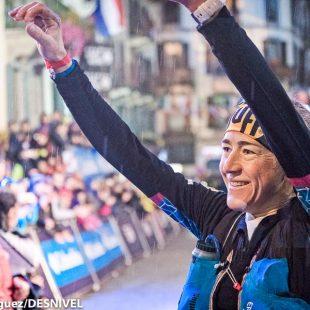 Nuria Picas tras ganar la Ultra Trail du Mont-Blanc 2017