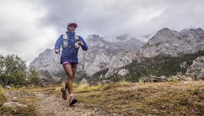 Mercedes Pila en la segunda etapa de la Riaño Trail Run. Tras la tercera etapa se proclamaría ganadora en categoría femenina individual