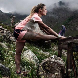 Fernanda Macial antes de su reto al Aconcagua en 2016