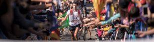 Kilian Jornet en la meta de la Marató Pirineu 2017