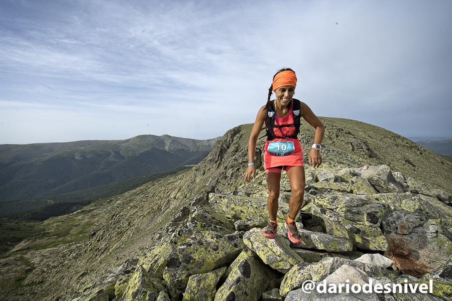 Gemma Arenas en el Gran Trail Peñalara 2017 que ganó.