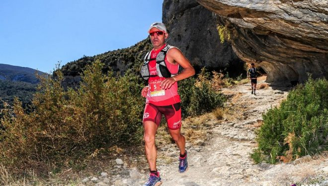 Sebas Sánchez en la Ultra Trail Guara Somontano 2017