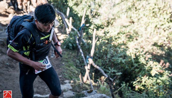 Suman Kulung en la cuarta etapa de la Everest Trail Race 2017