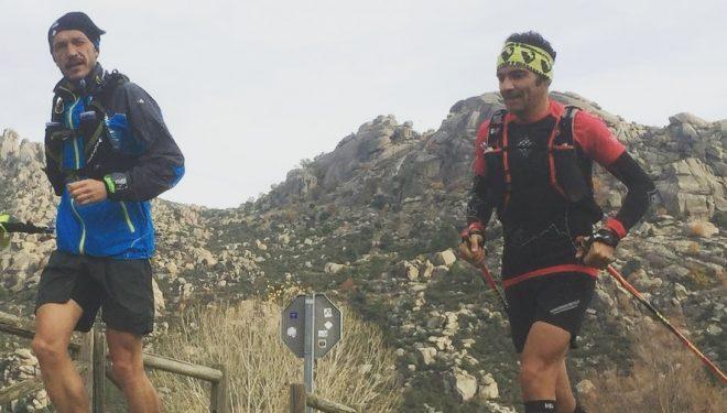 Andrés Gómez Cobo en pleno reto del Anillo de Picos de Europa