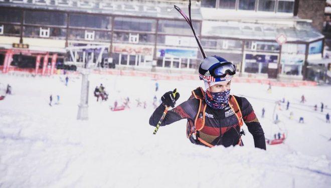 Anton Palzer en la Copa del Mundo 2017-18 de Esquí de Montaña en China
