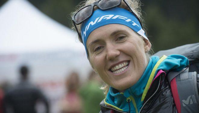 Llegada a meta de Oriol Cardona en la prueba Vertical Race donde quedó segundo en categoría junior. Campeonatos Europa Esquí de Montaña 2014